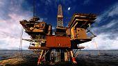 pic of oil rig  - Oil platform - JPG