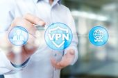 Vpn Virtual Private Network Protocol. Cyber Security And Privacy Connection Technology. Anonymous In poster