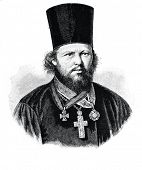 Archpriest Gerasim Pavsky. Engraving by  Neumann. Published in magazine