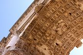 stock photo of soffit  - The soffit of the Arch of Titus in Rome Italy - JPG