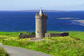 stock photo of ireland  - Doonagore castle near Doolin - JPG