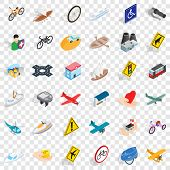 Crossroad Icons Set. Isometric Style Of 36 Crossroad Icons For Web For Any Design poster