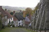 Gold Hill Shaftesbury Dorset England