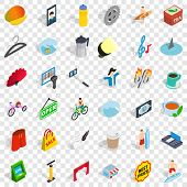 Habit Icons Set. Isometric Style Of 36 Habit Vector Icons For Web For Any Design poster