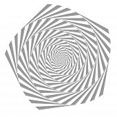 Abstract Illusion In Motion. Hypnotic Black And White Element .optical Illusion. Vector. Eps10 poster