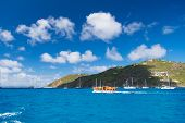 Perfect Place Relax Body Recharge Soul. Tropical Island. Mountain Shore St.barts. Travelling And Wan poster