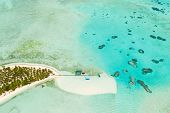 Tropical Island Surrounded By Beautiful Lagoons. Onok Island Balabac, Philippines. Rest On A Tropica poster