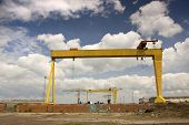 foto of samson  - two famous cranes from belfasts titanic quarter - JPG