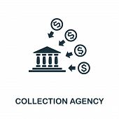 Collection Agency Icon Symbol. Creative Sign From Investment Icons Collection. Filled Flat Collectio poster