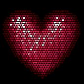 Vector Illustration of Valentine Pixel Heart