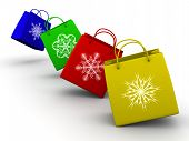 Shopping Bags With Snowflake