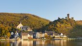 pic of moselle  - Moselle Scenery in Germany on a beautiful autumn day - JPG