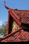 Detail Of The Roof In Pagoda