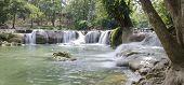 Panorama View Of Jed Sao Noi Waterfall, Saraburi, Thailand