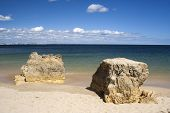 stock photo of batata  - Batata Beach on the west coast of the Algarve Portugal - JPG