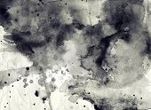 Abstract black and white ink background