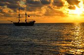 Pirate Ship Sunrise
