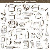 Doodle grande conjunto - cozinha