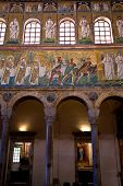 Three Magi Offer Gifts To The Virgin In Sant Apollinare Nuovo In Ravenna