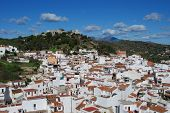 stock photo of pueblo  - General view of the town Monda Malaga Province Andalusia Spain Western Europe - JPG