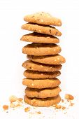Stack Of Cookies With Sesame
