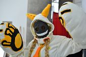 Fans in costume at an LA Anime Expo 2012