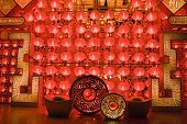 Red Lanterns At Night For Chinese New Year