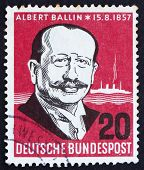 Postage Stamp Germany 1957 Albert Ballin