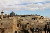 foto of aqsa  - Al Aqsa mosque and minaret - JPG