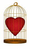 Heart In Gilded Cage - Love, Valentine Concept