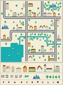 City builder vector elements.