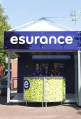 Esurance booth at the Billie Jean King National Tennis Center during US Open 2013