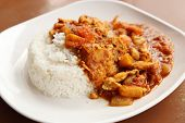 Spicy Chicken Curry And Rice