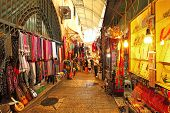 JERUSALEM - AUGUST 21: Old city bazaar offers middle east traditional products and souvenirs. It is