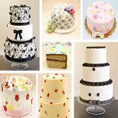 Mural of various cakes