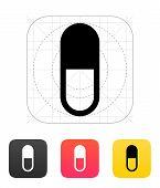 Pill Capsule icon. Vector illustration.