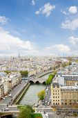 skyline of Paris at sunny day