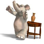 Постер, плакат: Ведут себя как слон в посудной лавке
