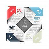 Arrows cycle infographics design element. Vector.