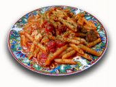 Pasta With Cheese And Tomato Sauce