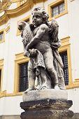 image of cherub  - Sculpture of cherub outside Loreta Sanctuary in Prague Czech Republic - JPG