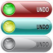 Undo. Internet buttons. Raster illustration.