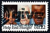 Postage Stamp Usa 1982 Youths And Elderly Suffering From Malnutr