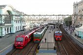 MOSCOW - JUNE 15: View of Belorussky railway station - one of nine main railway stations in city in