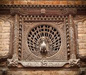 picture of woodcarving  - Peacock Window - JPG