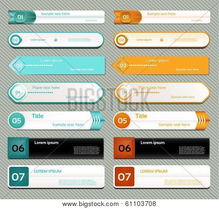 Modern infographics options banner. Vector illustration. can be used for workflow layout diagram num poster