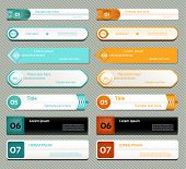 Modern infographics options banner. Vector illustration. can be used for workflow layout diagram num t-shirt