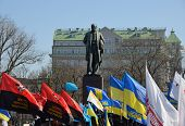 KIEV, UKRAINE - March 9, 2014: Celebration of the 200th anniversary of Taras Shevchenko in Kiev