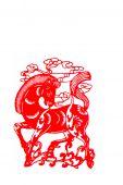 horse, paper cutting Chinese Zodiac.