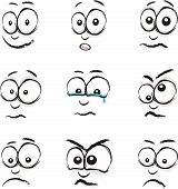 cartoon face group